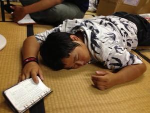 眠たい篠ちゃん。
