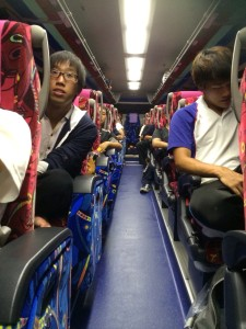 合宿所からの帰りのバス