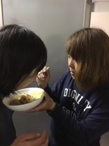 次期2回生の2人はいつも仲良くご飯を作ってました!